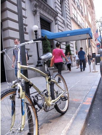 Baited bike at scene of original theft, NYC
