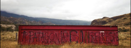 Anti-dam graffiti along the Carretera Austral Photograph by Michael Hanson